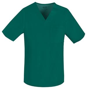 hunter-green-cherokee-mens-scrubs-top
