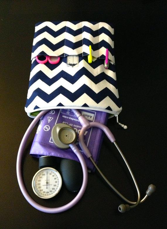 Chevron nurse purse