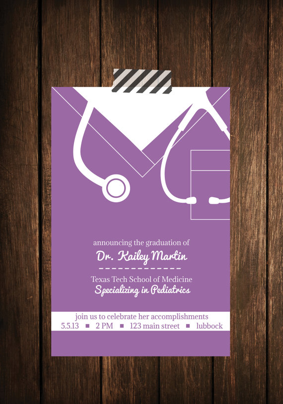 Nurse bling Custom graduation invitations Scrubs The Leading