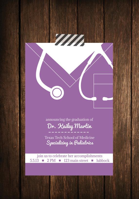 nurse bling custom graduation invitations scrubs the leading