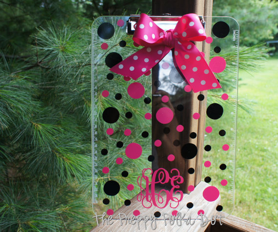 polka dot clipboard