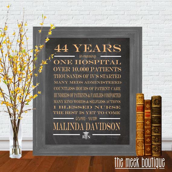 Nurse Bling Personalized Retirement Printable Artwork