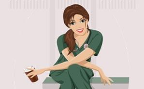 illustrated-nurse-with-coffee