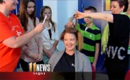 Kentucky nurses shave their heads to support cancer patients