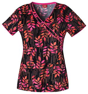 leaves scrubs top