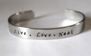 Nurse bling: Hand-stamped cuff bracelet