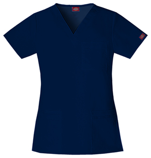 navy womens scrubs top