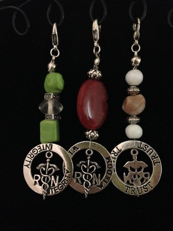 nurse affirmation bead charms