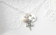 Nurse bling: Personalized sterling silver necklace