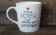 Nurse bling: Personalized handpainted coffee mug