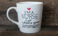 Nurse bling: Personalized handpainted coffee mug