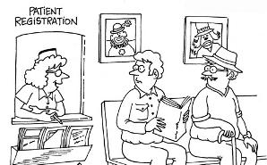 Nurse Cartoons Patient Registration Scrubs The