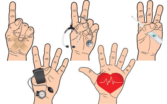 nurse counts to five