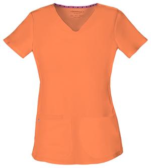 orange heart and soul scrubs top