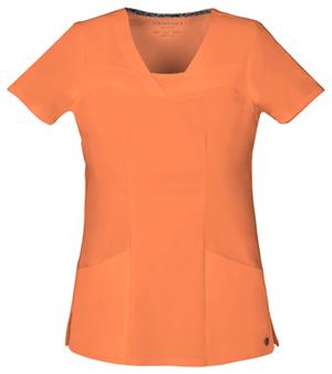 orange vneck heart and soul top