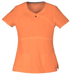 orange keyhole scrubs top