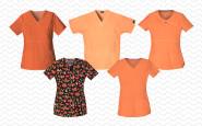 5 fabulous orange scrubs tops for summer