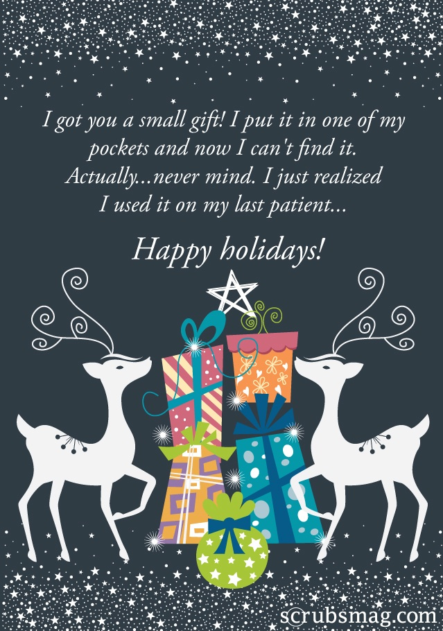 8 hilarious last-minute holiday cards for nurses - Scrubs | The ...