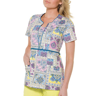 baby phat uniforms print scoop neck