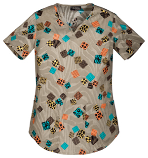 squares scrubs top