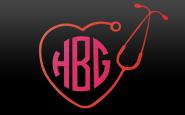 Nurse bling: Personalized vinyl stethoscope decal