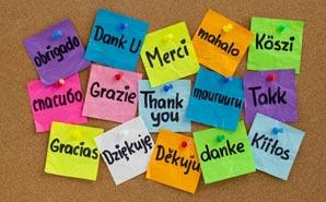 expressing gratitude, thank you