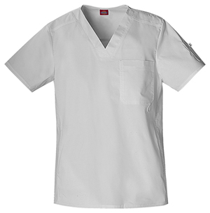 white-unisex-scrubs-top
