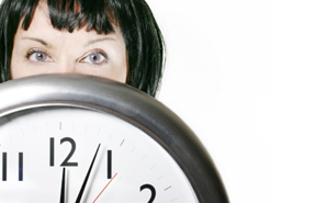 woman-and-clock